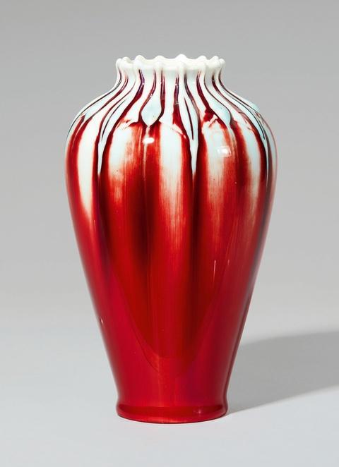 Balustervase mit Kunstglasur -
