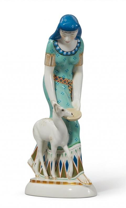 Ägypterin mit Reh -