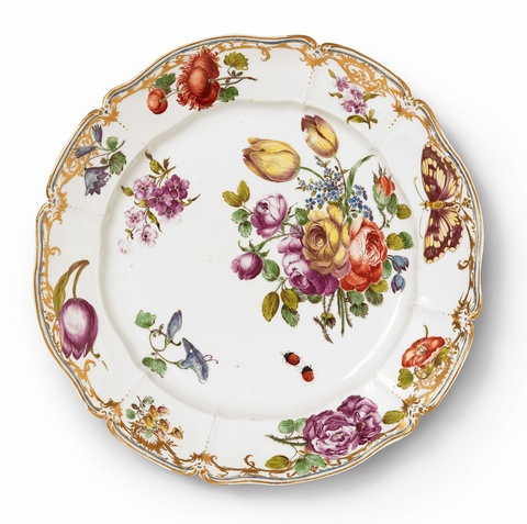 A Nymphenburg porcelain plate related to the court service -