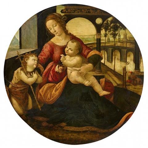 Tommaso di Credi - Madonna mit Christuskind und dem Johannesknaben
