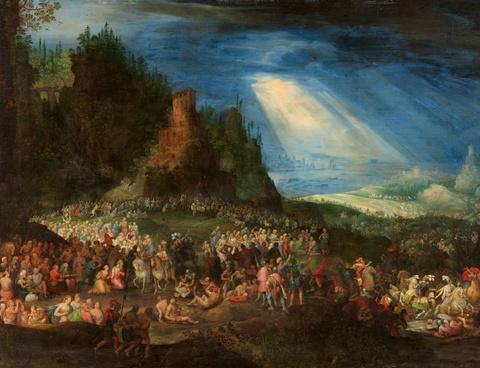 Pieter Schoubroeck - Die Errettung der Juden vor den trunkenen Elefanten König Ptolemaios´ IV. Philopator