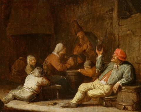 Thomas Wijck - Tavern Scene with Drinking Peasants