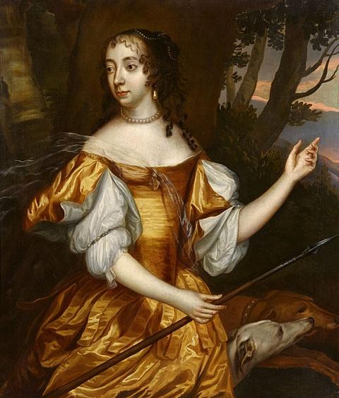 Jan Mijtens - Portrait der Prinzessin Albertine Agnes von Oranien-Nassau, Fürstin von Nassau-Diez als Diana