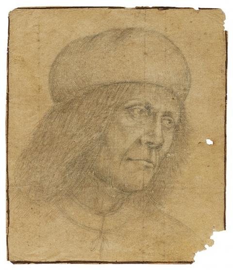 Venetian School 16th century - Portrait of a Man in a Beret Giovanni Bellini?)