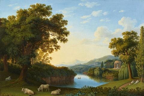 Jacob Philipp Hackert - Landschaft mit Motiven des Englischen Gartens in Caserta