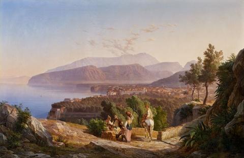Carl Wilhelm Götzloff - View of Sorrent