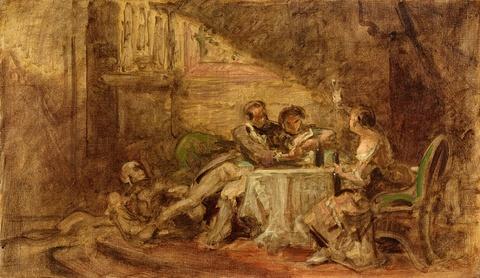 Carl Spitzweg - Der Tod beim Festmahl