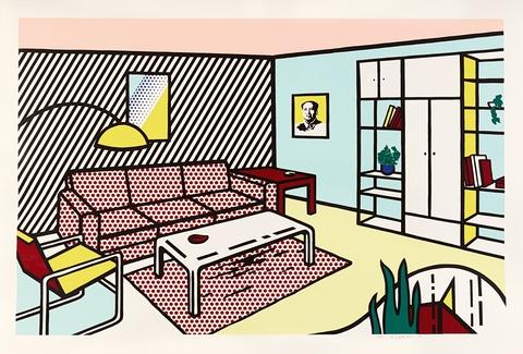 Roy Lichtenstein - Modern room (Aus der Serie: Interior series)