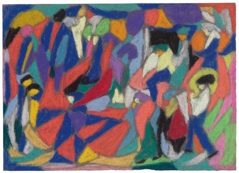 Adolf Hölzel - Farbige Komposition mit Figuren