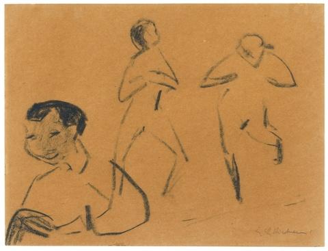 Ernst Ludwig Kirchner - Milly mit zwei Akten