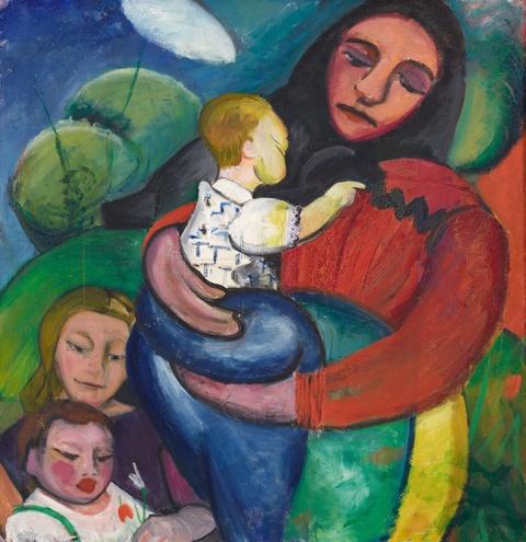 Maria Marc - Mutter mit Kindern