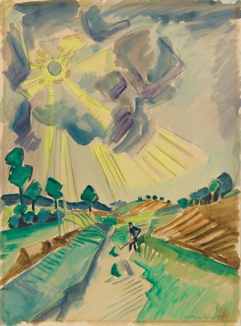 Hermann Max Pechstein - Strahlende Sonne