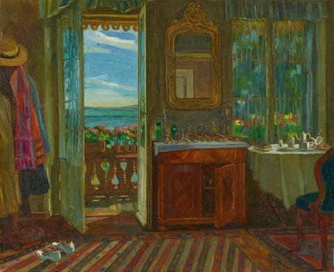Wilhelm Trübner - Balkonzimmer am Starnberger See