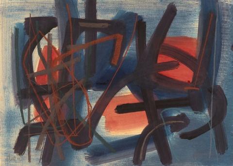 Fritz Winter - Aufsteigendes Rot