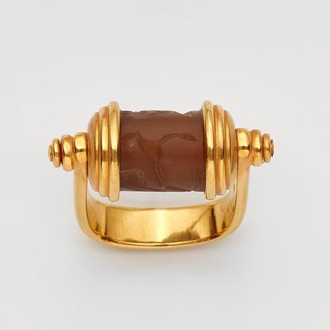 Ring mit altägyptischem Rollsiegel -