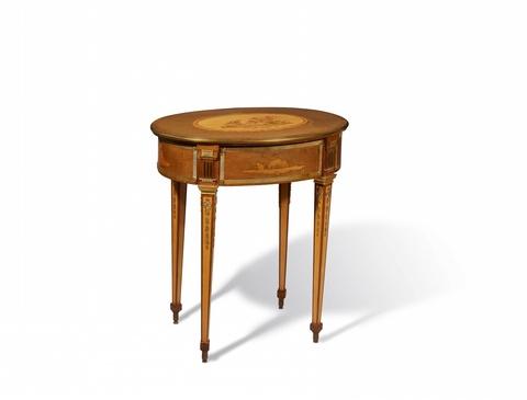 Ovaler Arbeitstisch von David Roentgen -