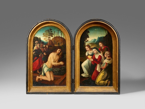 Netherlandish School 16th century - Diptych with Scenes from the Passion