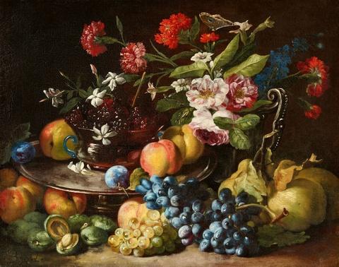 Abraham Brueghel - Stillleben mit Blumen und Früchten