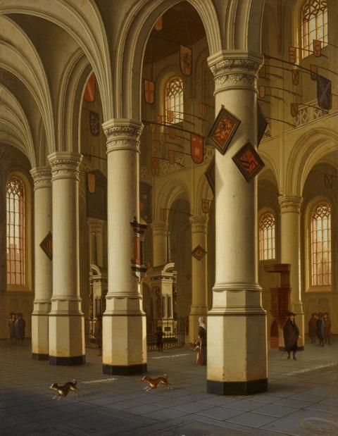 Hendrick Cornelisz van Vliet - Interieur der Nieuwe Kerk in Delft mit dem Grab Wilhelms I. von Oranien