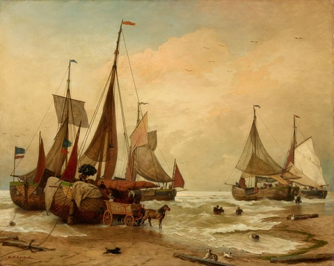 Andreas Achenbach - Unloading the Catch