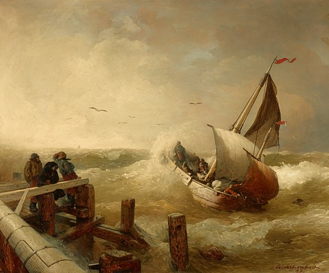 Andreas Achenbach - At the Harbour