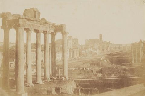 Giacomo Caneva - Tempel des Saturn, Forum Romanum