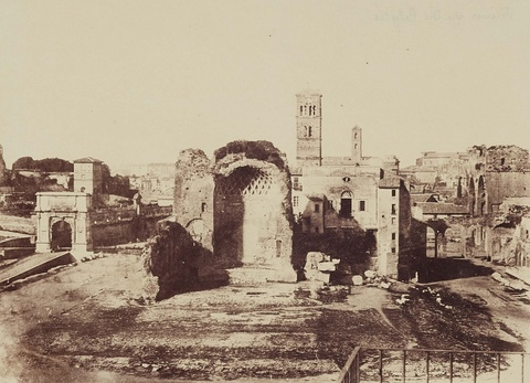 Giacomo Caneva - Tempel der Venus und der Roma