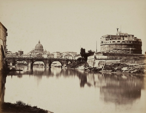 Tommaso Cuccioni - View of the Tiber River with Castel Sant'Angelo