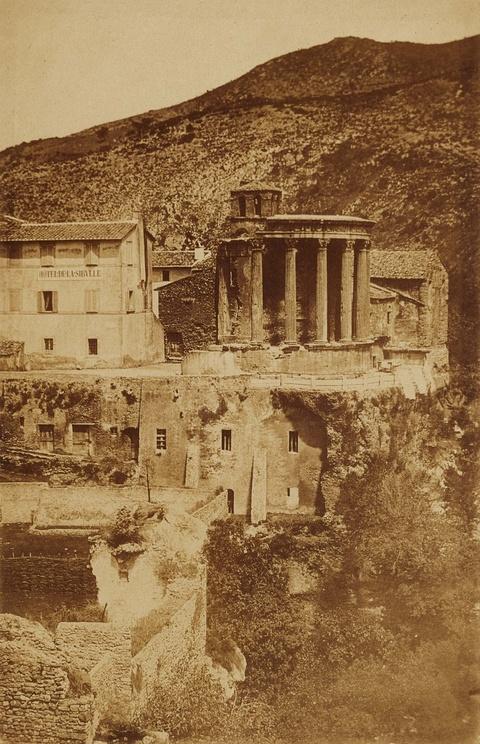 Giacomo Caneva, zugeschrieben - Tempel der Vesta, Tivoli