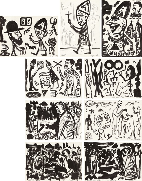 A.R. Penck - Pabst in Polen