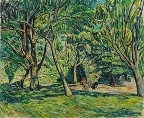 Theo von Brockhusen - Zwei sitzende Frauen im Garten