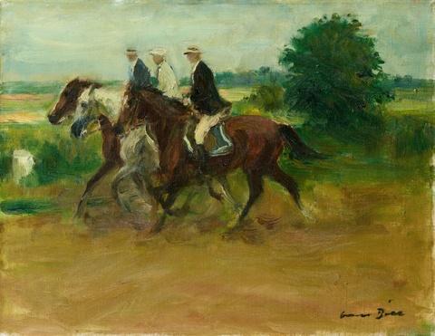 Otto Dill - Drei Reiter in der Landschaft
