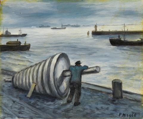 Frans Masereel - Hambourg, Bouee sur le quai