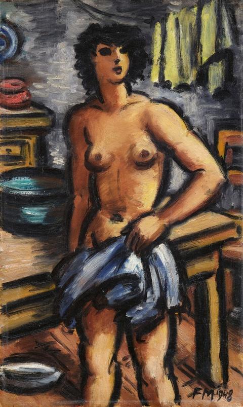 Frans Masereel - Nu debout dans la cuisine