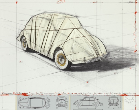 Christo - Wrapped Volkswagen, Project for 1961 Volkswagen Beetle Saloon
