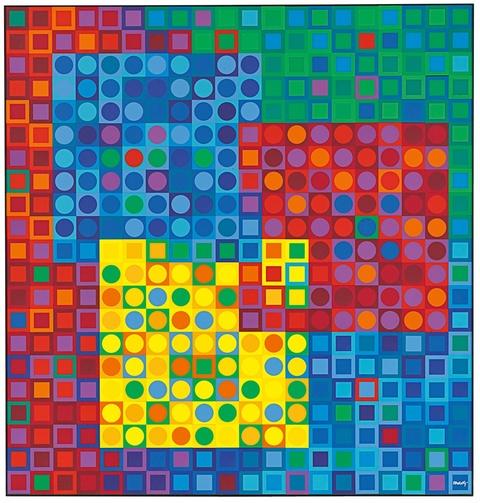 Victor Vasarely - Orion Multicolor