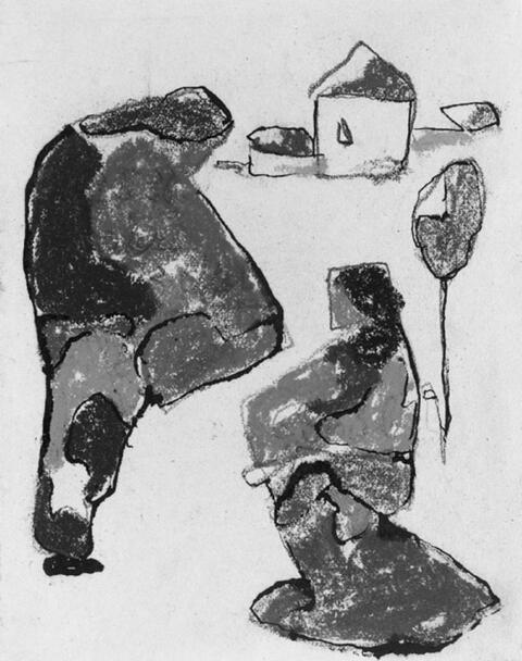 Adolf Hölzel - Kleine Figurenstudie