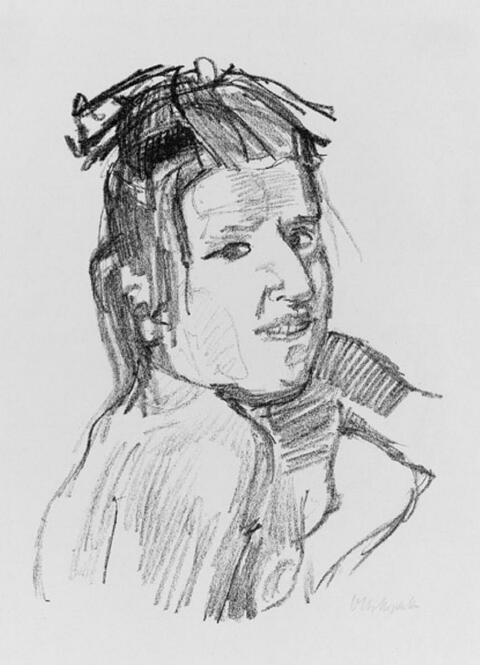 Oskar Kokoschka - Mädchen mit Haarmasche
