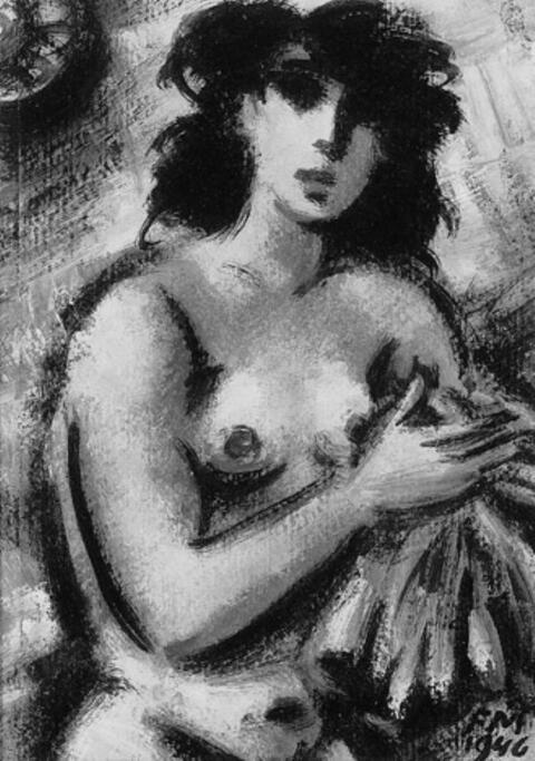 Frans Masereel - NU AU LINGE BLEU
