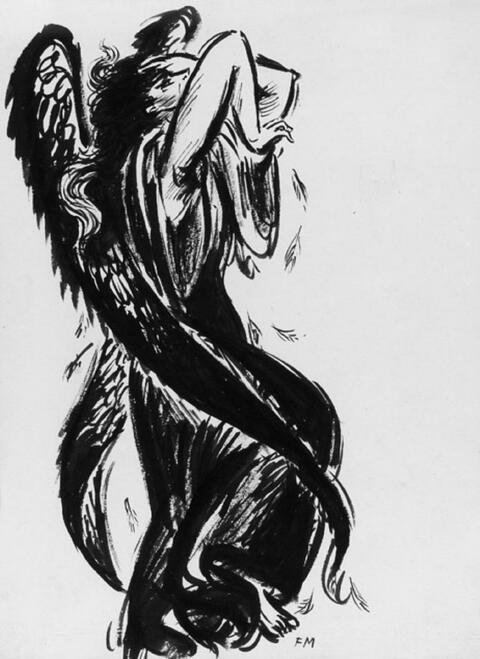 Frans Masereel - Ange de désespoir