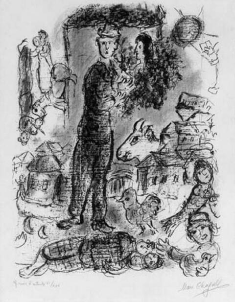 Marc Chagall - Der große Bauer