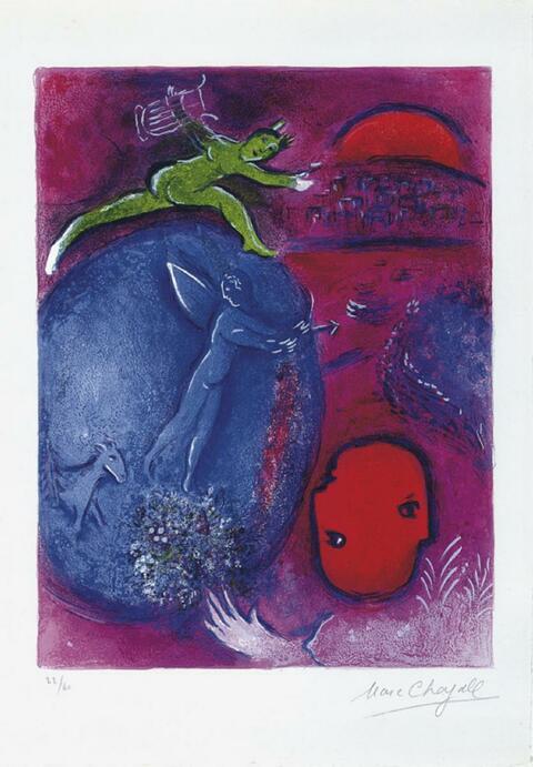 Marc Chagall - Der Traum Dryas und Lamons
