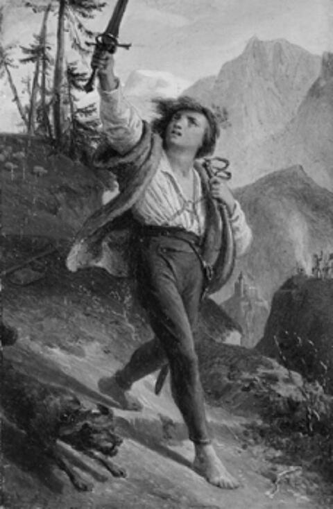 Alfred Rethel - AUS DEM TIROLER FREIHEITSKAMPF 1809.