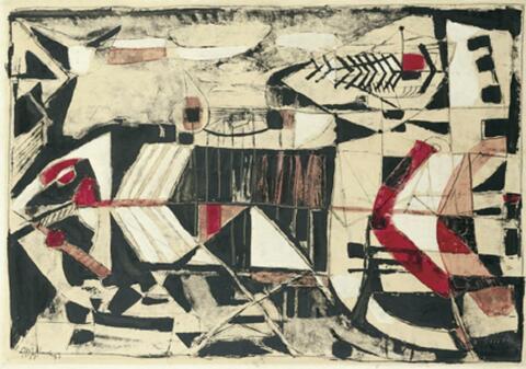 Joseph Fassbender - Schwarz-Weiß mit Rot