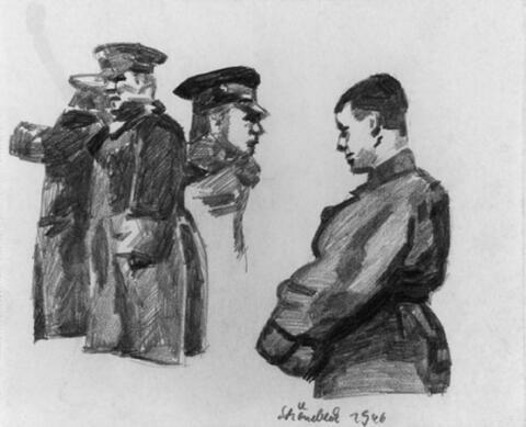 Eugen Schönebeck - Ohne Titel (Soldaten)