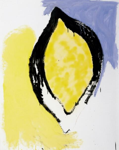 Thomas Schütte - Zitrone mit Blau, Gelb und Schwarz