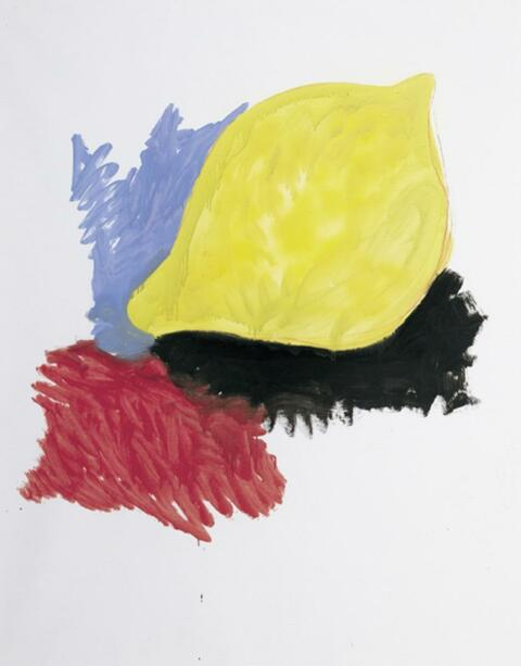 Thomas Schütte - Zitrone mit Blau, Gelb und Schwarz (und Rot)