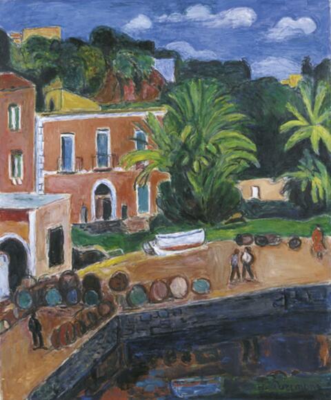 Hans Purrmann - Hafenecke (Porto d'Ischia)