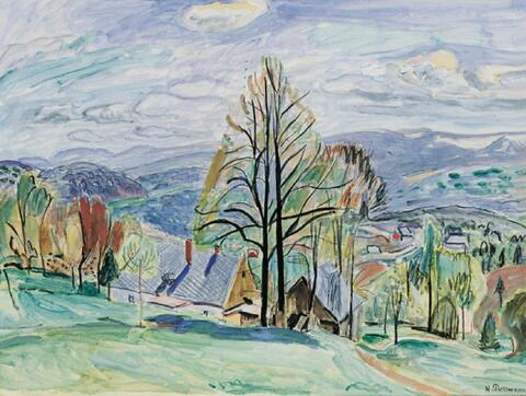 Hans Purrmann - Blick in herbstliches Tal
