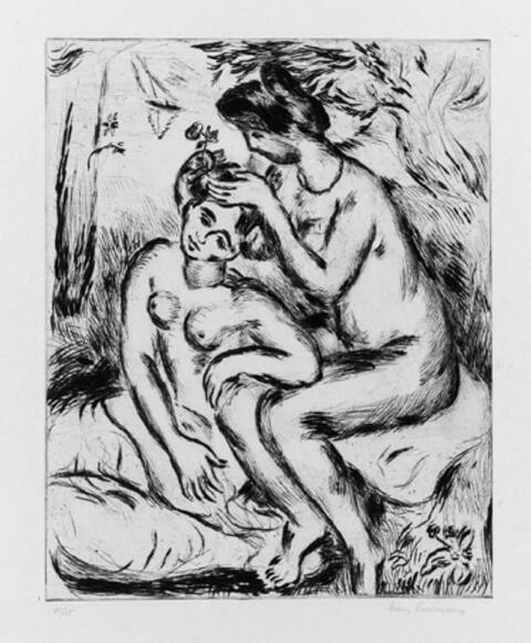 Hans Purrmann - Zwei Mädchen nach dem Bade bei der Toilette